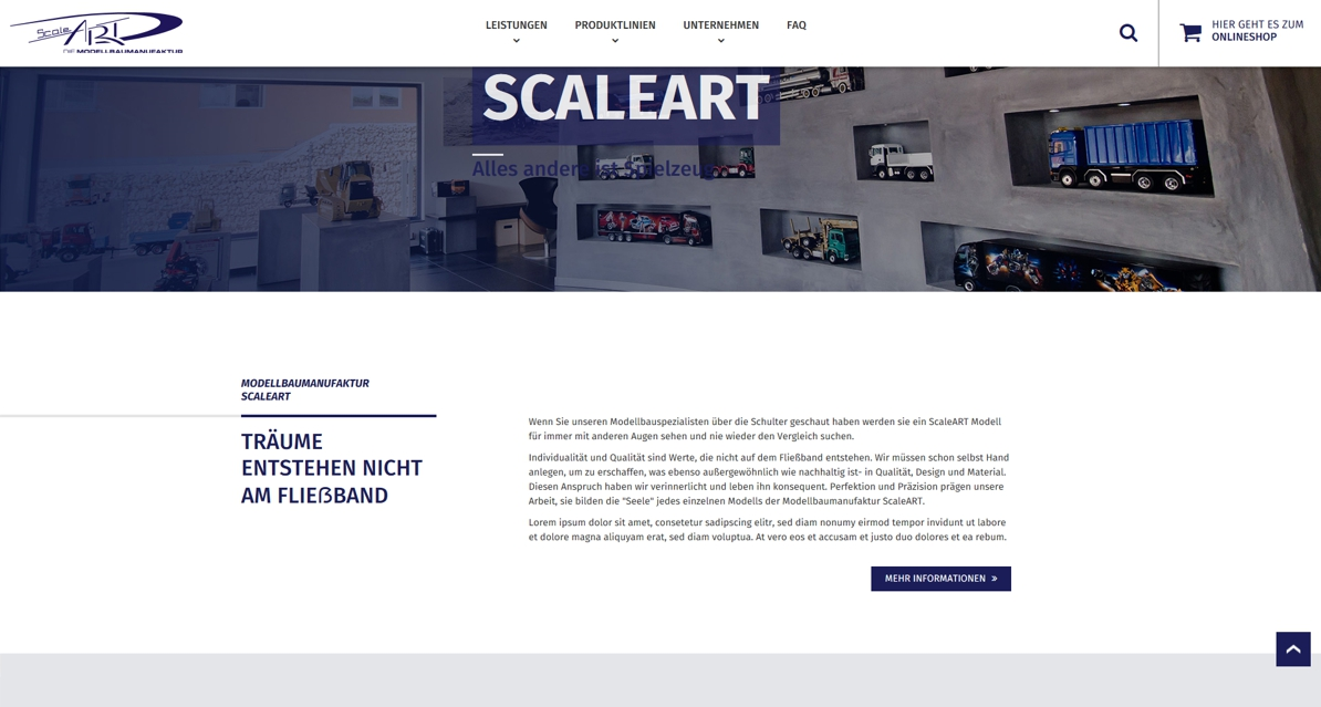 Neue Website ScaleArt